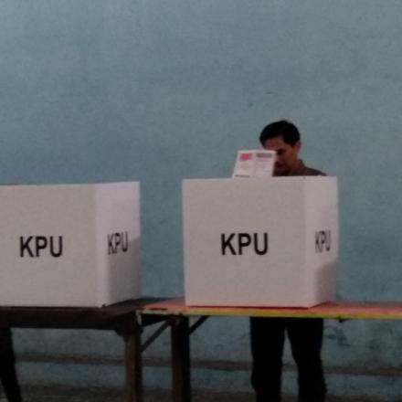 Pemilu 2019 berjalan aman tertib dan damai di Desa Sayati.